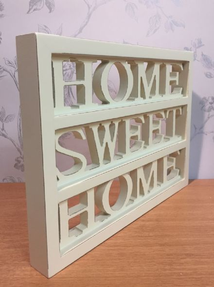 Cream Home Sweet Home Wall Mounted of Freestanding Sign